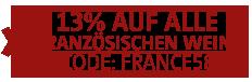 13 Prozent auf Frankreich