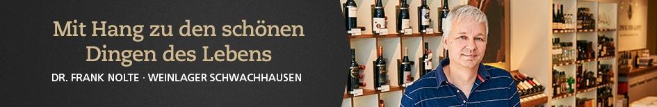 Weinempfehlungen von Dr. Frank Nolte