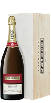 Piper Heidsieck Cuvée Brut Essentiel in der Magnumflasche Champagne 1,5 Literflasche in der attraktiven Holzkiste