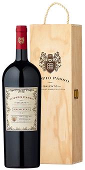 Köstlichalkoholisches - 2019 Doppio Passo Primitivo in der Magnumflasche Salento IGT 1,5 Literflasche in der attraktiven Holzkiste - Onlineshop Ludwig von Kapff