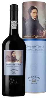 Köstlichalkoholisches - Ferreira »Dona Antonia« Reserva White Portwein 20 vol in Geschenkverpackung - Onlineshop Ludwig von Kapff