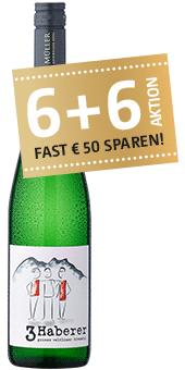 ''3 Haberer'' Grüner Veltliner Qualitätswein aus Österreich 2017