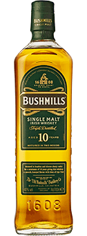 Köstlichalkoholisches - Bushmills 10 Years Old Whiskey Single Malt Irish Whiskey 40 vol in Geschenkverpackung - Onlineshop Ludwig von Kapff
