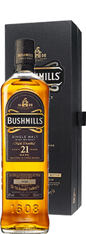 Köstlichalkoholisches - Bushmills 21 Years Old Whiskey Single Malt Irish Whiskey 40 vol in Geschenkverpackung - Onlineshop Ludwig von Kapff