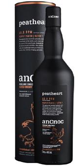 Köstlichalkoholisches - anCnoc Peatheart Whisky Single Malt Scotch Whisky 46 vol in Geschenkverpackung - Onlineshop Ludwig von Kapff