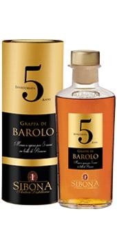 Sibona Grappa di Barolo »Invecchiata 5 Anni« Gr...