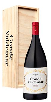 Conde Valdemar Crianza in der Magnumflasche Rioja Doca 1,5 Literflasche in der attraktiven Holzkiste 2013