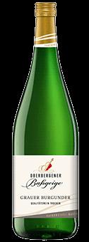 Köstlichalkoholisches - 2019 Oberbergener Baßgeige Grauer Burgunder trocken Literflasche, Baden - Onlineshop Ludwig von Kapff