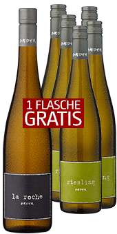 5+1 Paket »Bäder Riesling Deluxe« 1 Flasche gratis sichern!