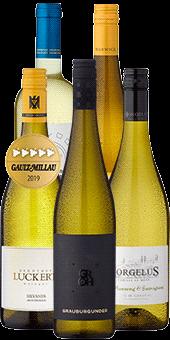 Probierpaket »Spargelweinprobe daheim« inklusive Vakuum Wine Saver und Weinverschlüsse im Wert von 24,95 Euro