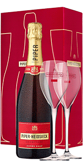Piper-Heidsieck Champagner Brut Geschenkset inkl. 2 Gläsern
