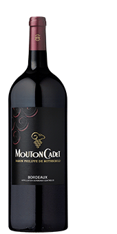 2015 Rothschild Mouton Cadet Rouge in der Magnumflasche