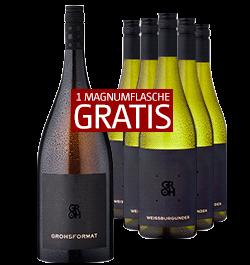 2018 Groh Weißburgunder 5 Fl. + 1 Grohsformat GRATIS