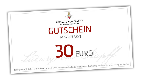 30€ Gutschein für Bewertungen gewinnen