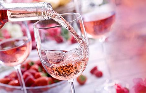 Erfrischung in Rosé