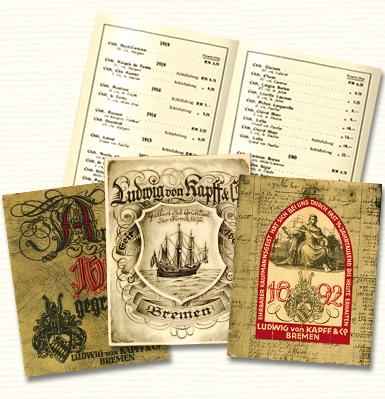 Historische Preislisten des Weinhandels Ludwig von Kapff