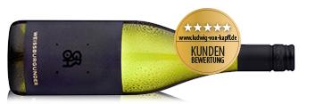 Flasche Weißwein aus Rheinhessen einem guten Spargelwein.