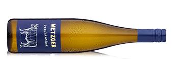 Flasche Weißwein vom Weingut Metzger.