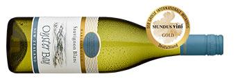 Flasche Weißwein aus Neuseeland.