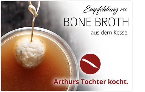 Bone Broth aus dem heißen Kessel