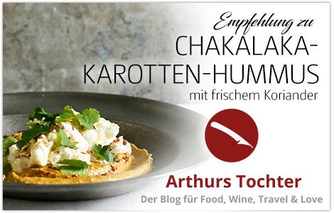 Chakalaka-Karotten-Hummus mit Rauch und Burrata