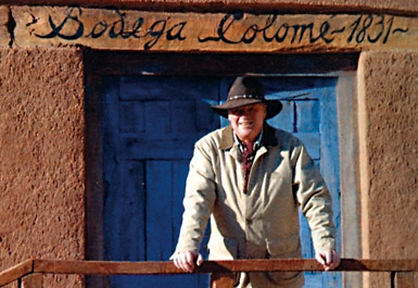 Colomé-Besitzer Donald Hess vor seiner Bodega Colomé, dem höchstgelegenen Weingut der Welt