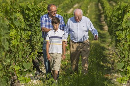 Drei Generationen der Familie Vigouroux