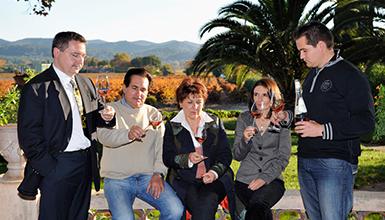Familie Fabre vom Chateau de l'Aumerade.
